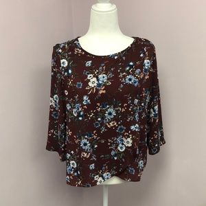 Pink Rose Small Floral Top